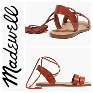 Madewell Ankle Tie Sandals Sz 8.5